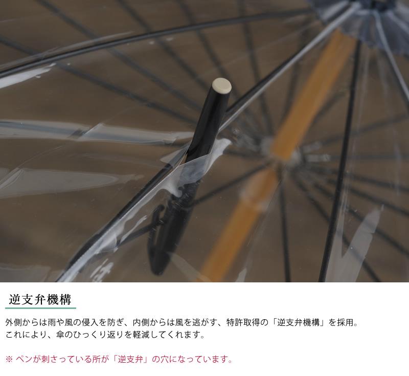 White Rose 高級ビニール傘 16本骨 65cm かてーる16桜