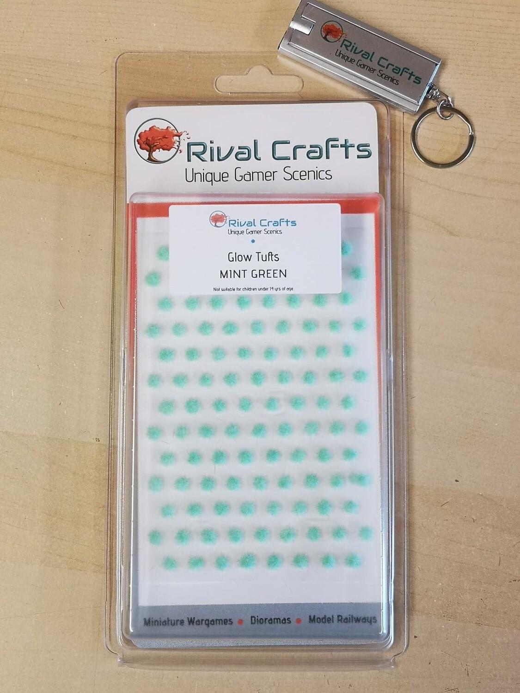 Glow Tufts - Mint Green 2mm  |蓄光 草むら ミントグリーン 2mm