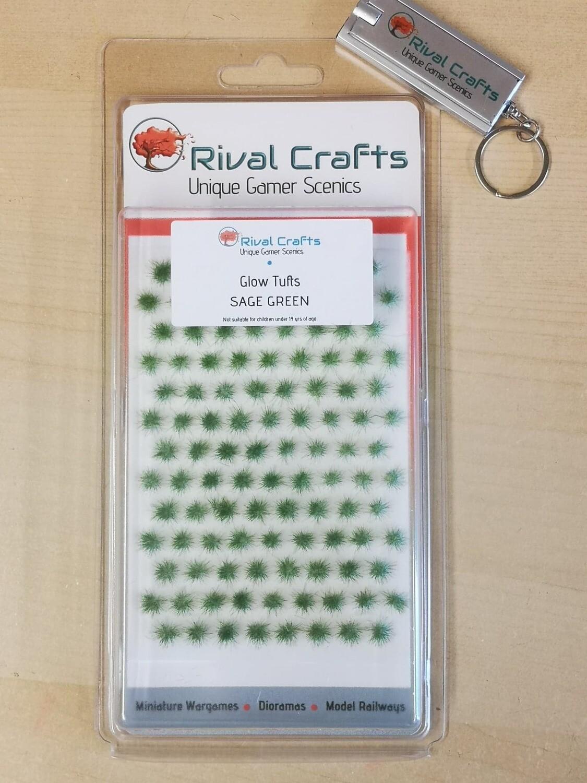 Glow Tufts - Sage Green 4mm  蓄光 草むら 緑(混色) 4mm