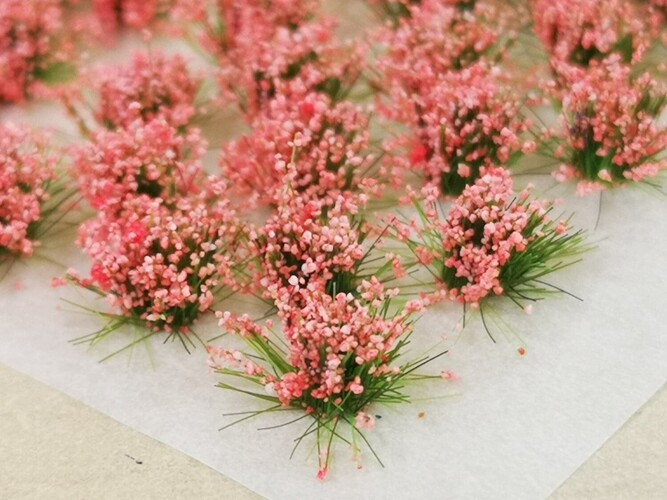 Small Flower Tufts Coral Pink