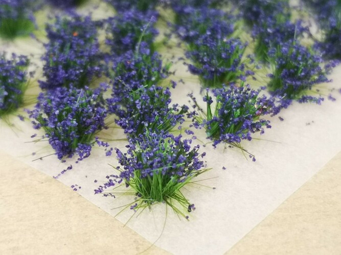 Small Flower Tufts Purple