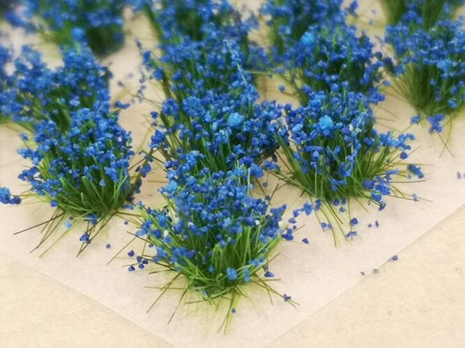 Small Flower Tufts Blue