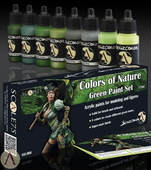 SSE-006 COLORS OF NATURE GREEN PAINT SET