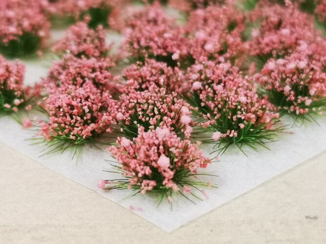 Large Flower Tufts Rose Pink