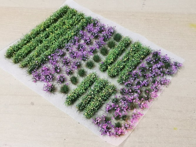 Flower and Hedge Mix - 6mm Purple