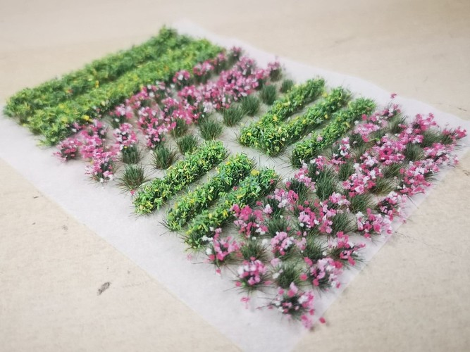 Flower and Hedge Mix - 6mm Pink