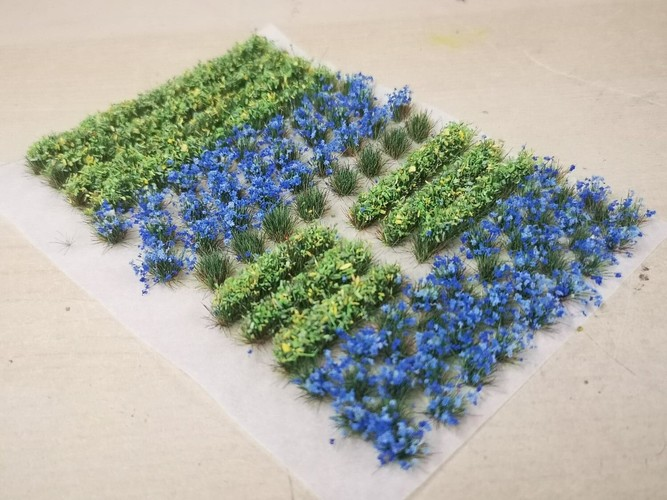 Flower and Hedge Mix - 6mm Blue