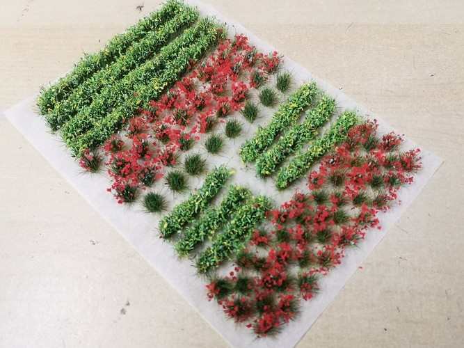 Flower and Hedge Mix - 6mm Red