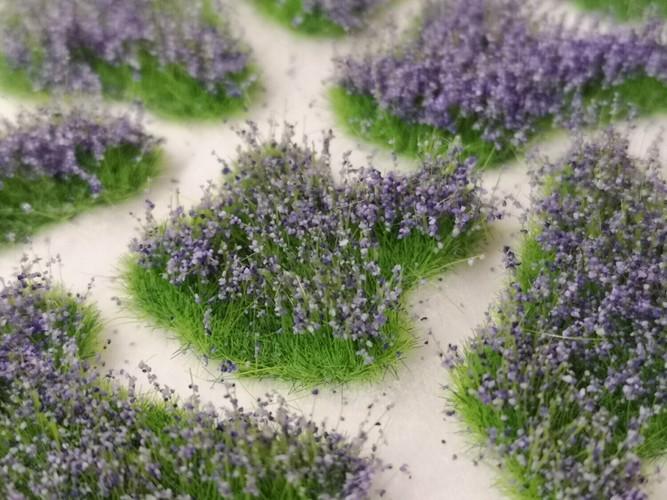 Medium Flower Patches 6mm - Lavender