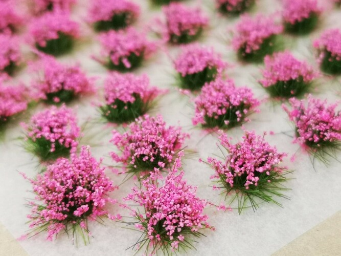 Standard Flower Tufts Neon Pink