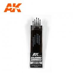 AK09087 シリコンブラシ5本セット硬め・細
