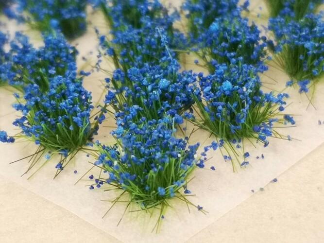 Standard Flower Tufts Blue