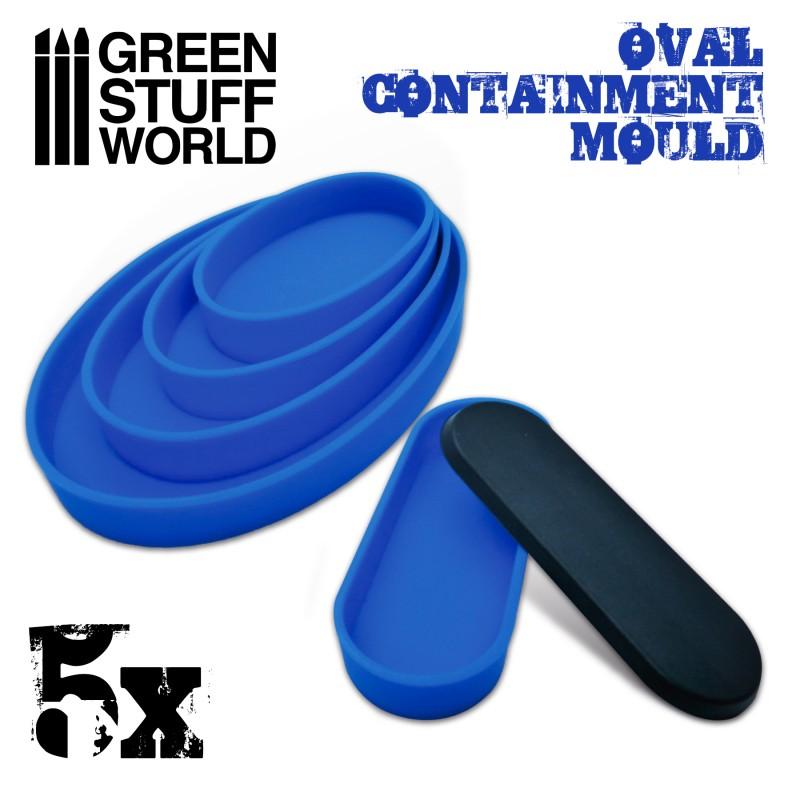 グリーンスタッフワールド[GSWD-2139]ベース成型用シリコン型 楕円形
