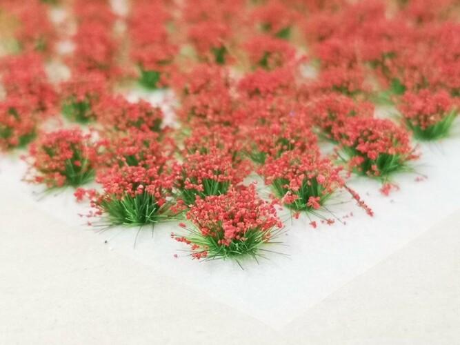 Standard Flower Tufts Red