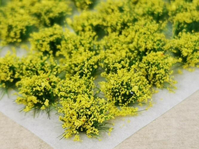 Standard Flower Tufts Yellow