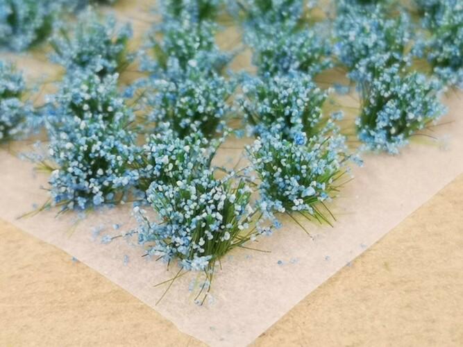 Standard Flower Tufts Pastel Blue