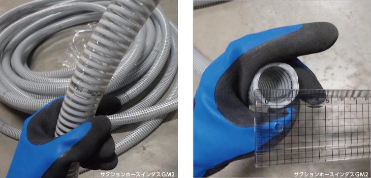 カクイチ サクションホース インダスGM2 内径25mm×外径30mm×20M巻 / 透明 / 吸水 排水 ホース 農業 工業 土木 ポンプ用