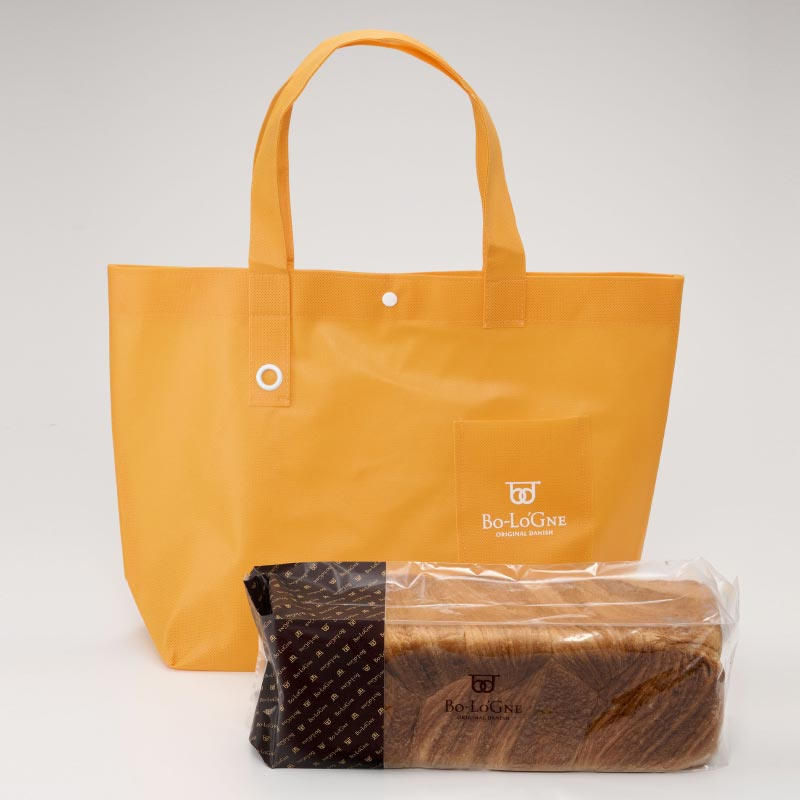 ボローニャ 3斤サイズ 不織布バッグ L (橙色×橙色) 【袋】