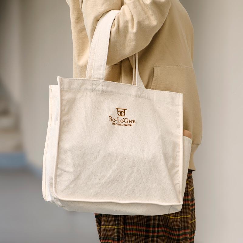 ボローニャ 刺繍 コットンバッグ