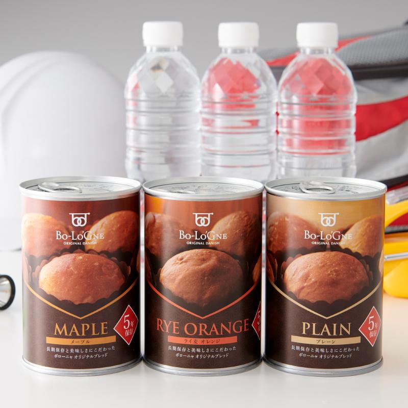 [賞味期限5年6ヶ月!]備蓄deボローニャ24缶セット <ライ麦オレンジ> 【缶製品】