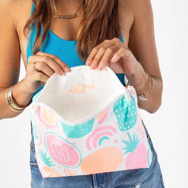 【M】アロハコレクション/Aloha Collection Printed Pouch M 撥水ポーチ Mサイズ