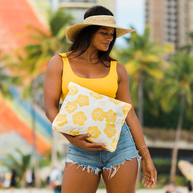 【L】アロハコレクション/Aloha Collection Printed Pouch L 撥水ポーチ Lサイズ