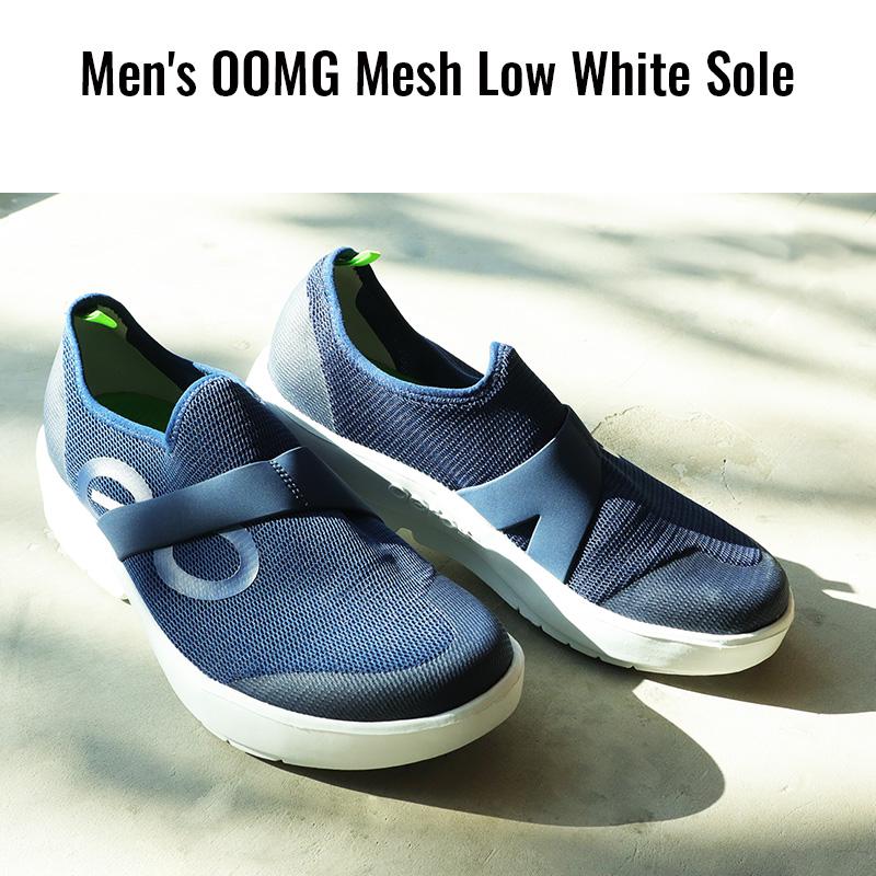 ウーフォス/OOFOS Men's OOMG Mesh Low White Sole(メンズウーエムジーメッシュロウ) リカバリーシューズ