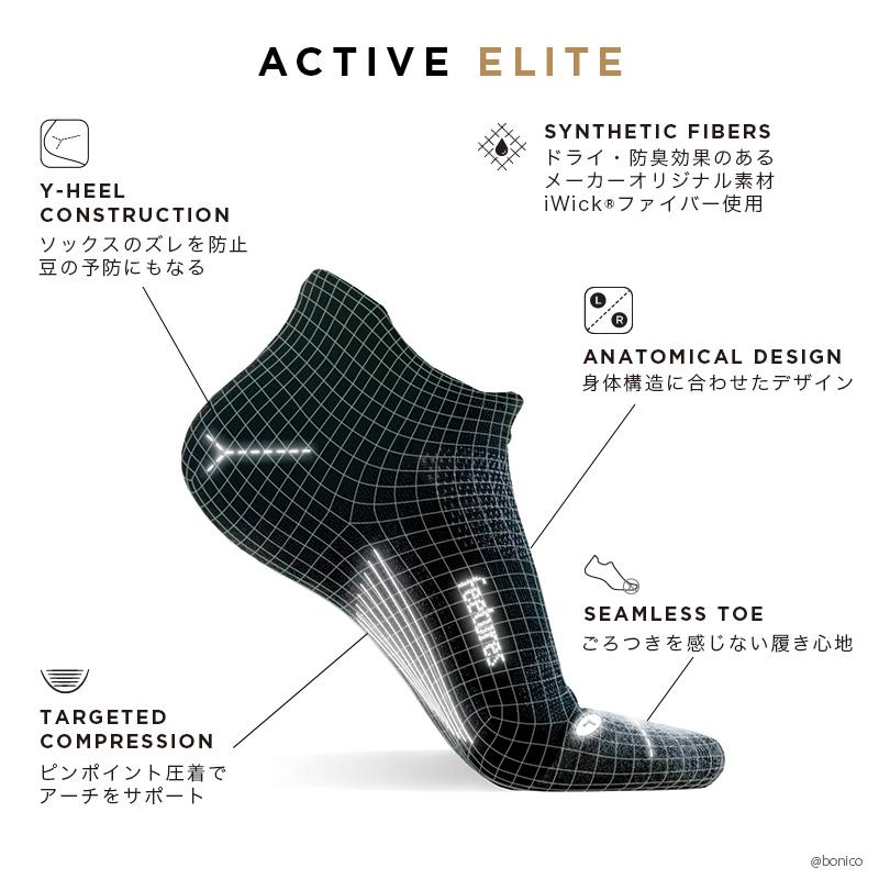 フィーチャーズ/Feetures ELITE ULTRA LIGHT MINI CREW ランニングソックス