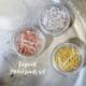 ボンネイル ジェルネイル メタル パーツ ニュアンス 水銀 アート デザイン@Bonnail Liquid Metal parts set  @756394