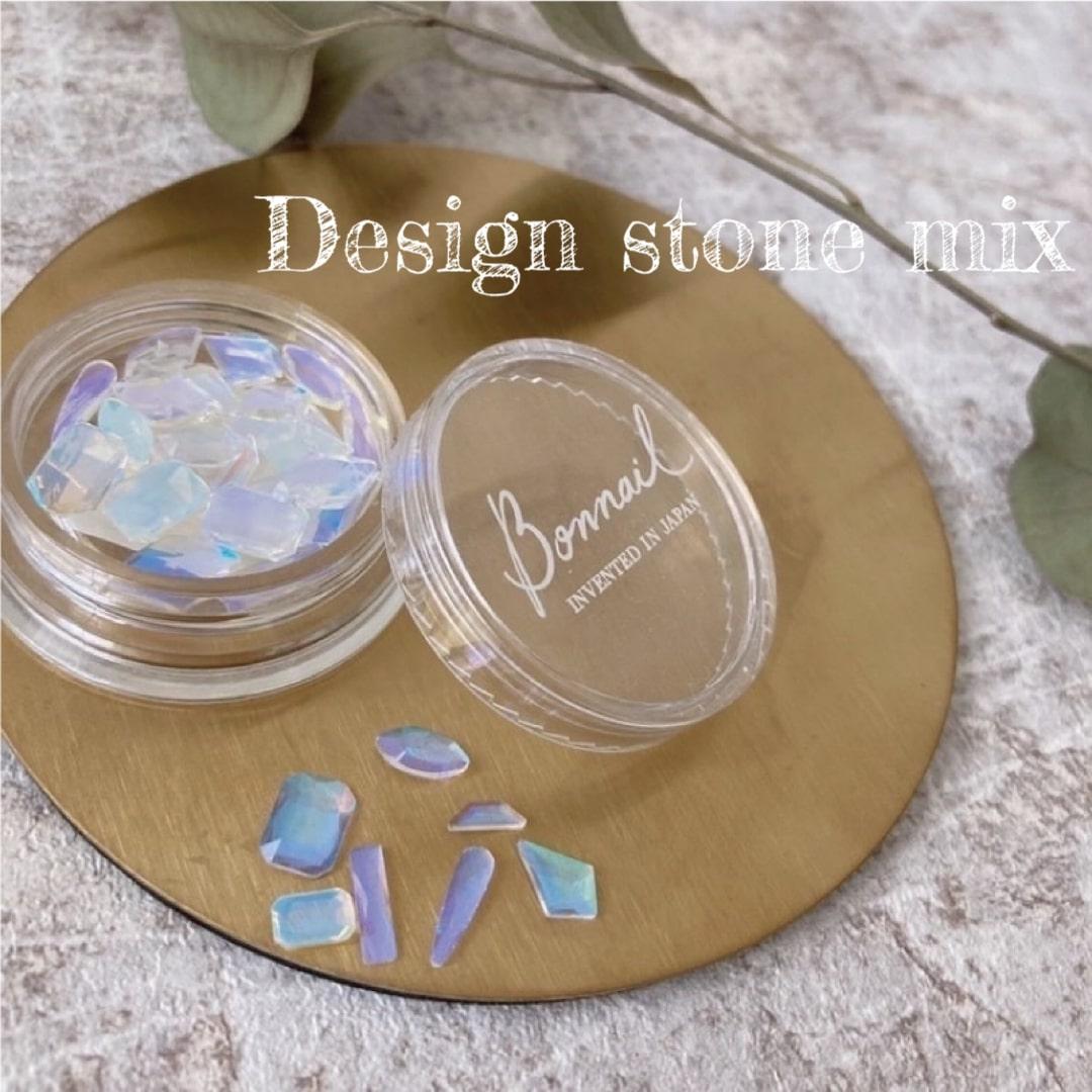 ボンネイル ジェルネイル パーツ ストーン アート セット@Bonnail Desigh stone mix ブリリアントクリア