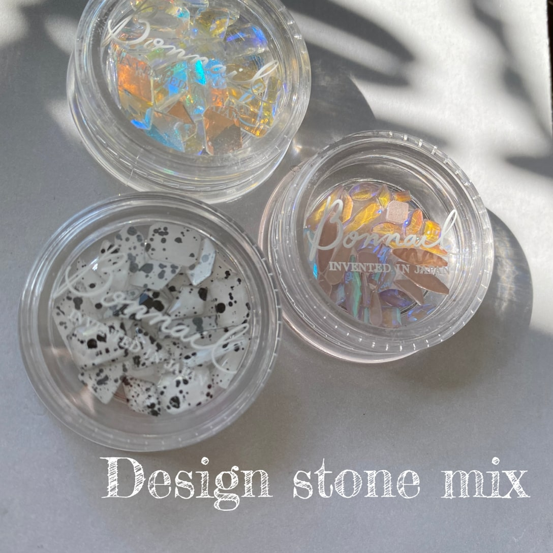 ボンネイル ジェルネイル パーツ ストーン アート セット@Bonnail Desigh stone mix ピーチムーン