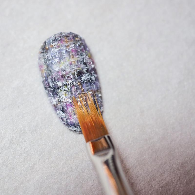 ボンネイル ジェルネイル ブラシ 筆 アート グラデーション ニュアンス@flicka nail arts art4 shaggy