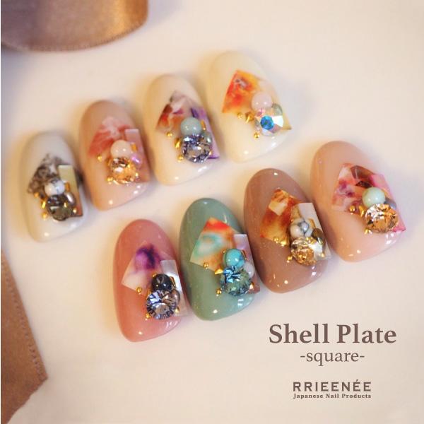 Bonnail×rrieenee shell plate square _a0513