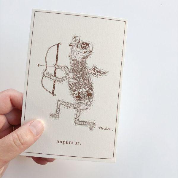 ポストカード 精霊とともに