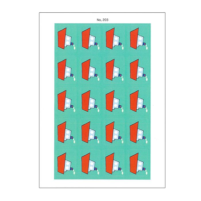 (2501-0203)赤木かん子・イラスト分類シール「のりもの・ふね(特別支援学校用)」 No.203  入数:1シート(シール20枚付き)