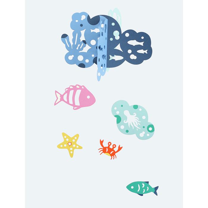 (6979-0522)マニュモビールズ 海の仲間たち