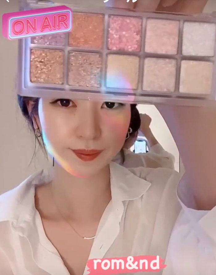 【rom&nd】ベターザンパレット00号LIGHT and GLITTER GARDEN★Better than Palette