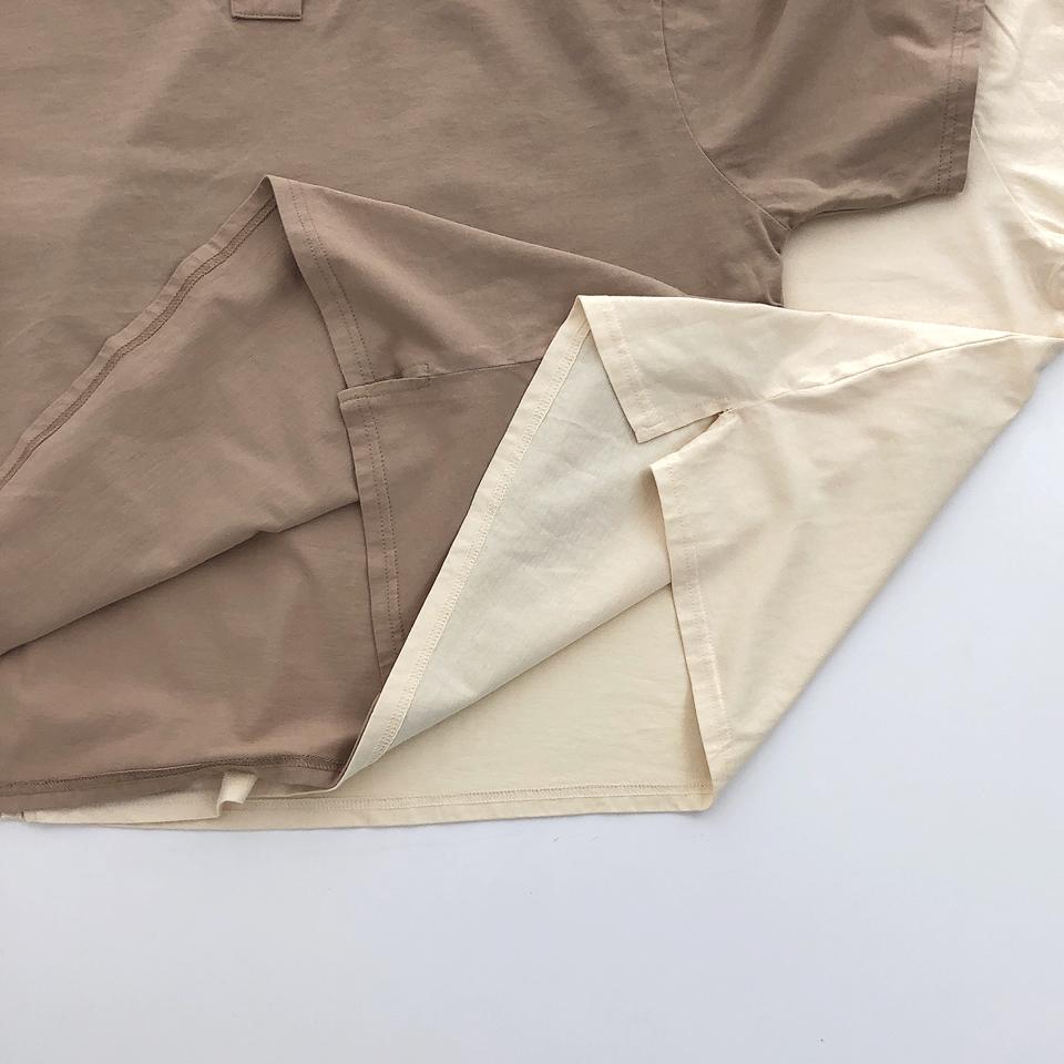 【osoro】スキッパー Tシャツ #クリーム