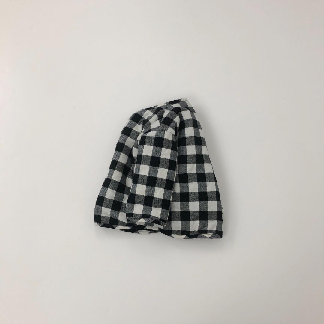 コットンチェックジャケット #ブラック