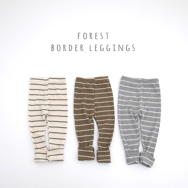 forestボーダーレギンス