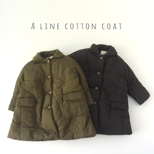 Aライン中綿コート