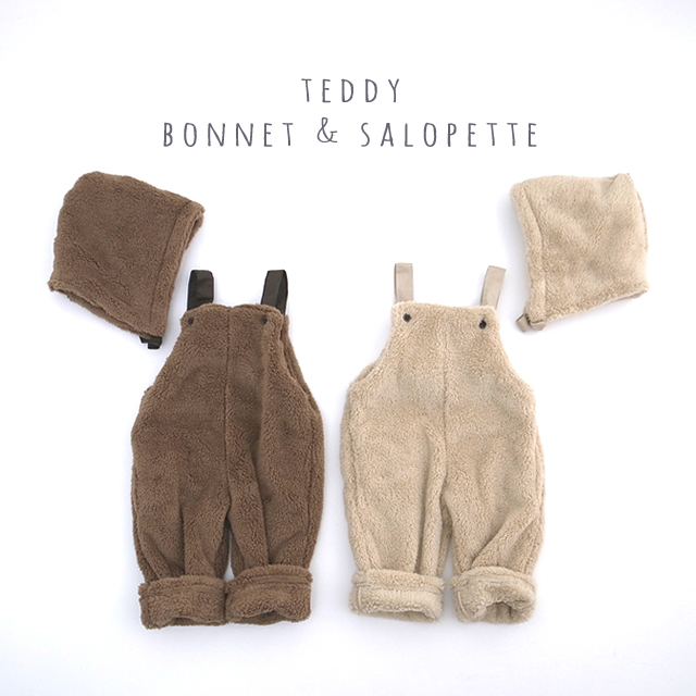 Teddyボンネット&サロペット