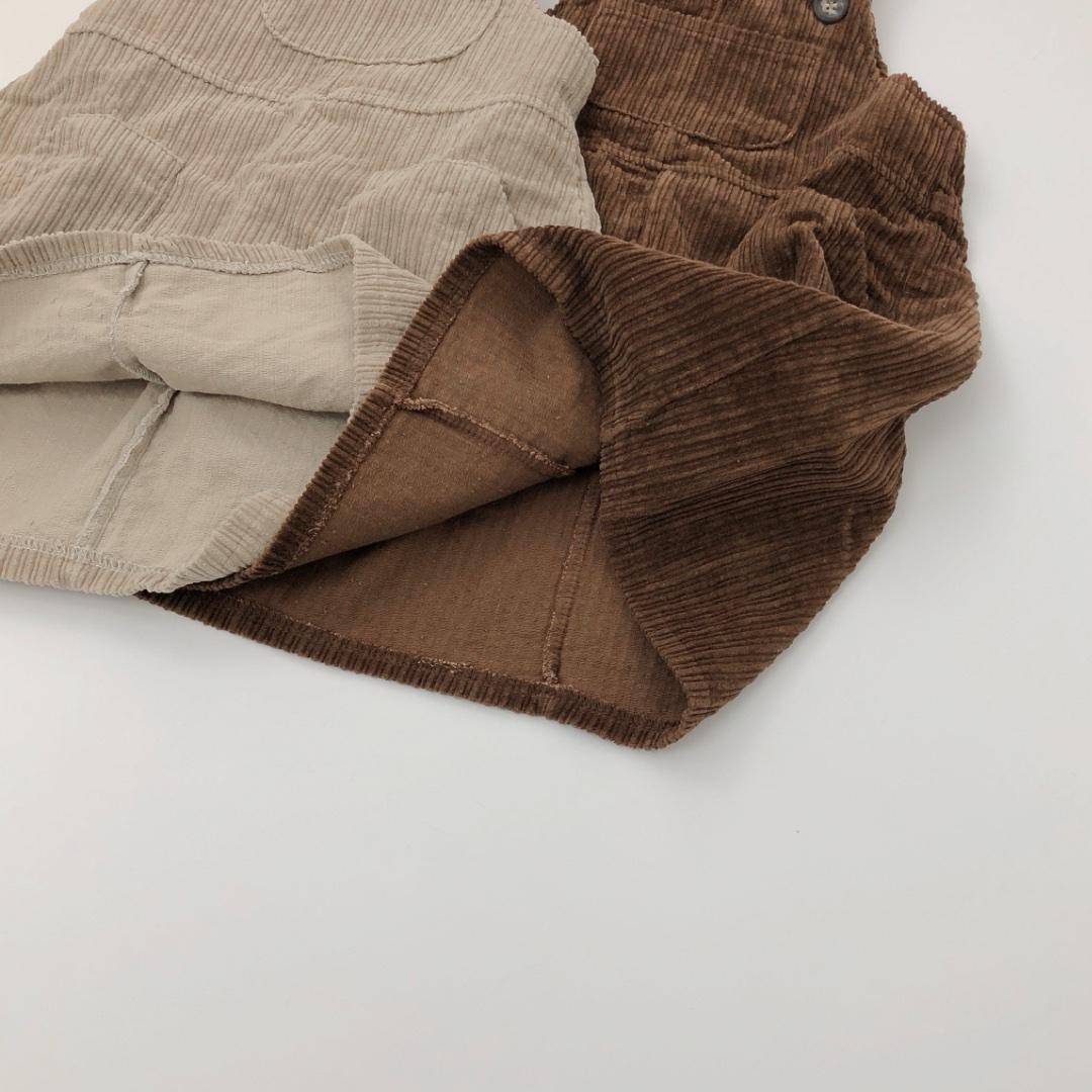 コーデュロイジャンパースカート