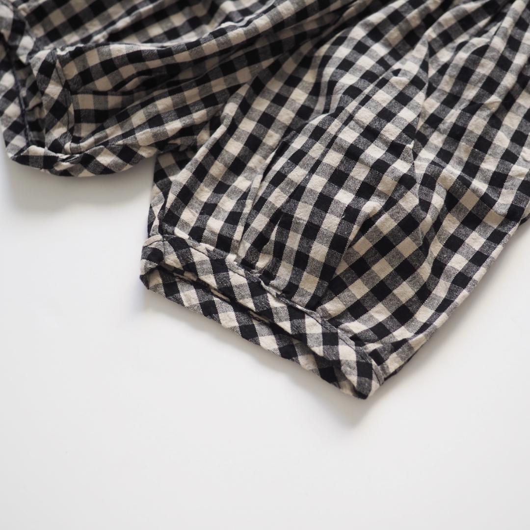 ギンガムチェックパンツ #ブラック
