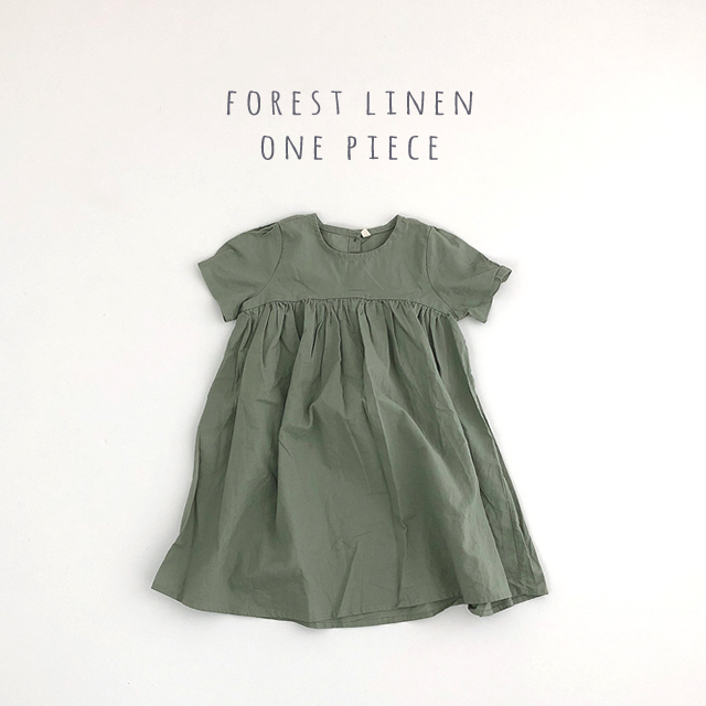 forestリネンワンピース #カーキ