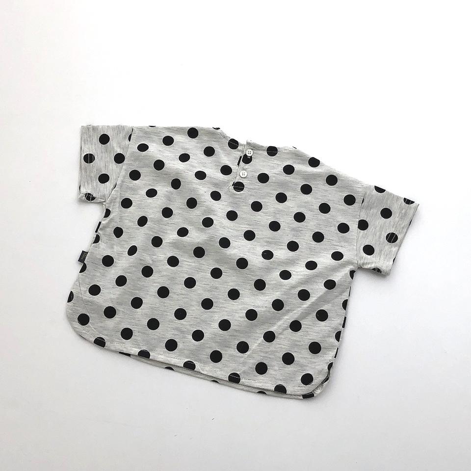ドットワイドTシャツ #グレー