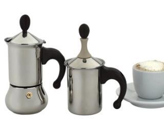 コーヒーメーカー&クリーマーセット1人用・ステンレス