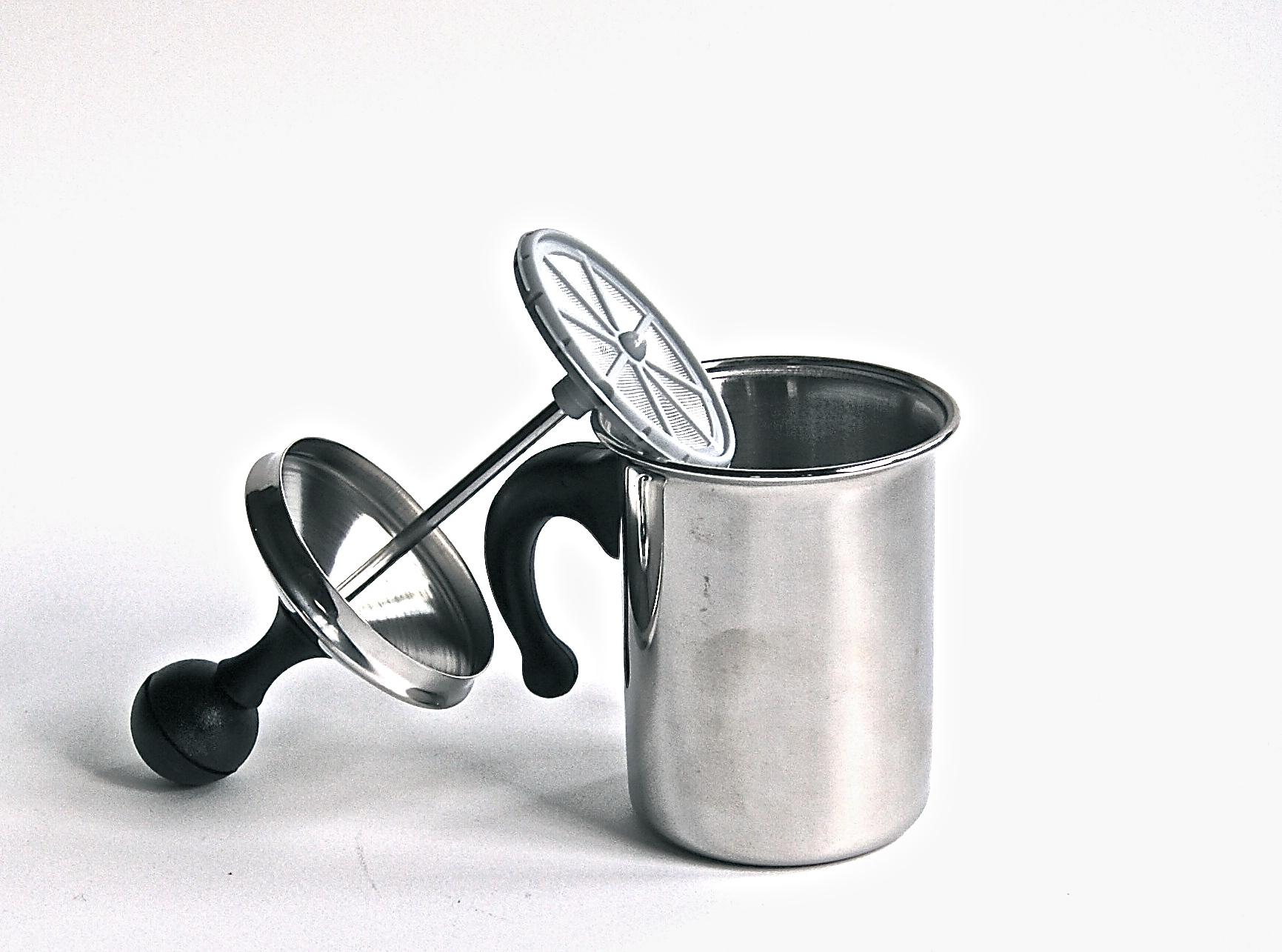 カプチーノクリーマー 3人用:ステンレス製 [Made in Italy]       残念ですがこの商品は製造中止になりました。