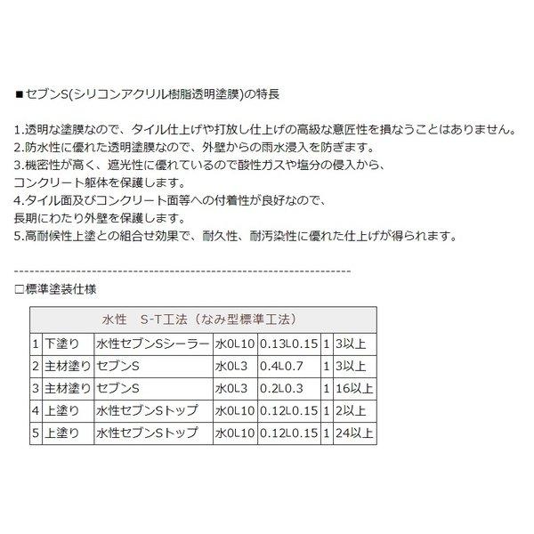 水性セブンSシーラーI(アイ) ナノカチオンシーラー セブンケミカル 樹脂 4kg/缶 1液