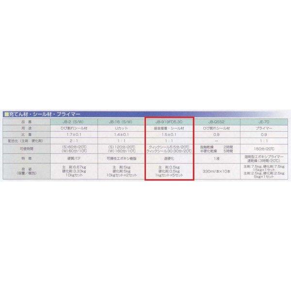 アイカ ジョリシール JB-919FD5 1kg×5セット/箱 クイックシール30 可使時間5分タイプ エポキシ樹脂 ひび割れ 隙間充填 AICA